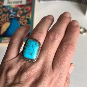Jewelry - Boho vintage turquoise silver ring